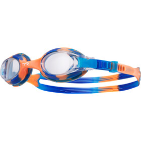 TYR Swimple Tie Dye Lunettes de protection Enfant, blue/orange